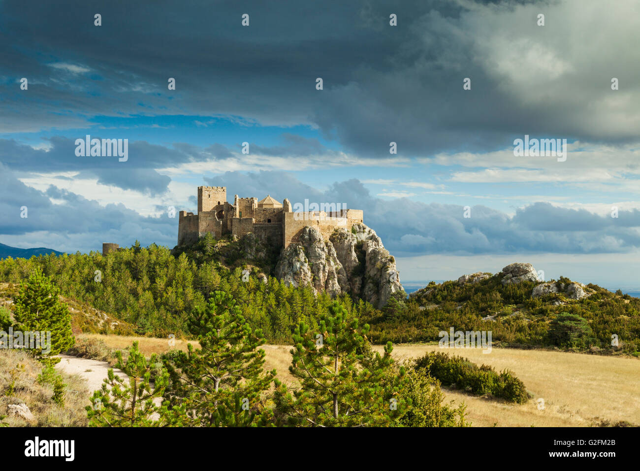 Loarre Castle, Huesca, Spain. Pre-Pyrenees of Aragón. Stock Photo