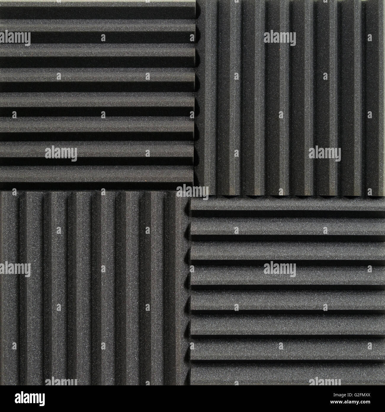 Background photo of recording studio sound dampening acoustical foam or tiles. Stock Photo