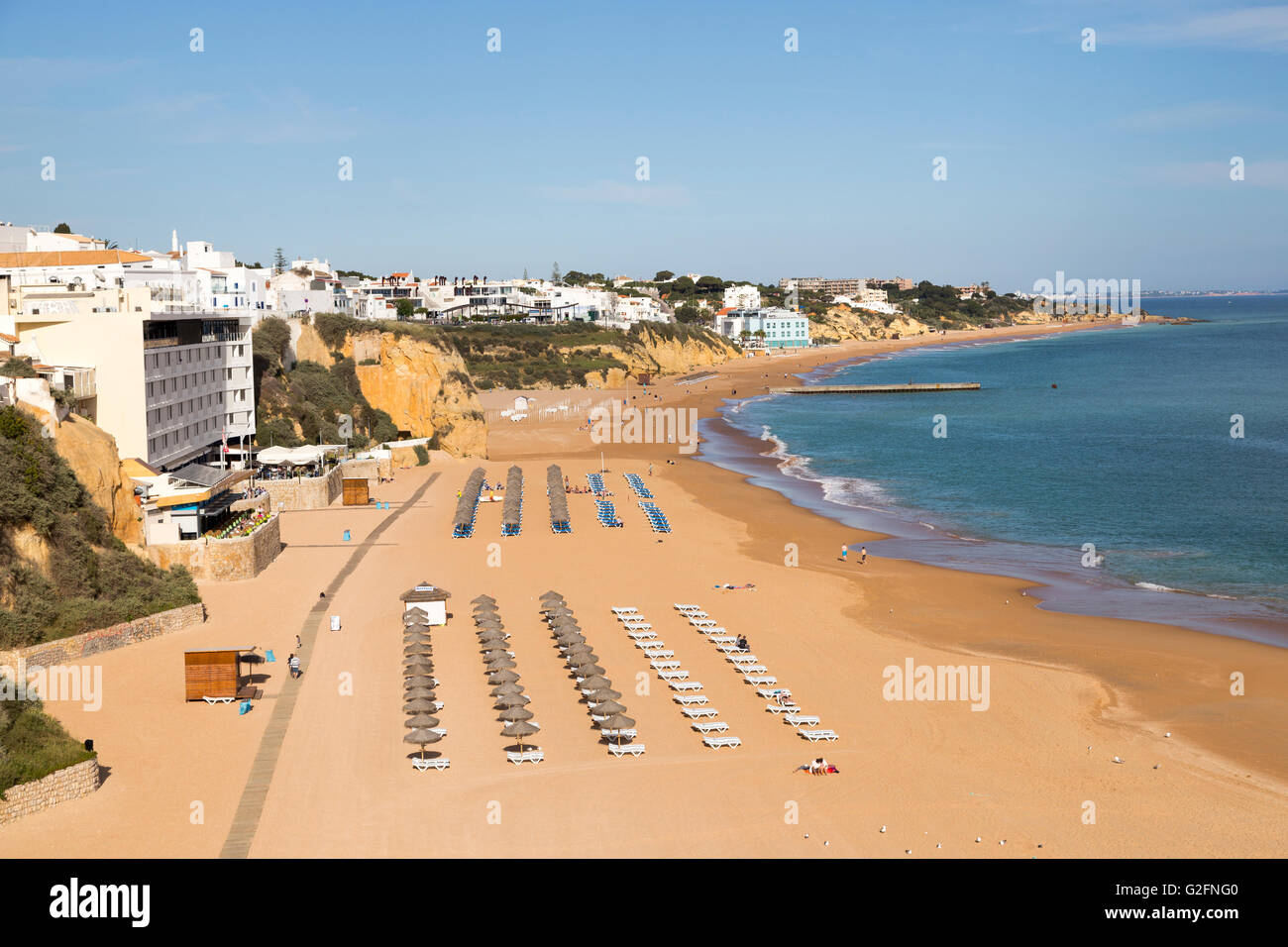 Beach, Albufeira, Algarve, Portugal - Stock Image