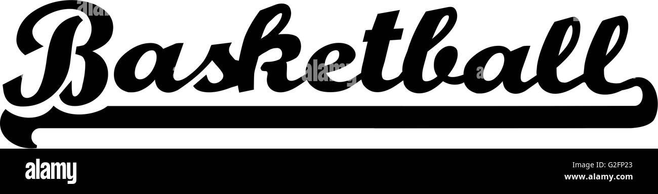 basketball word vintage retro stock photo 104838107 alamy