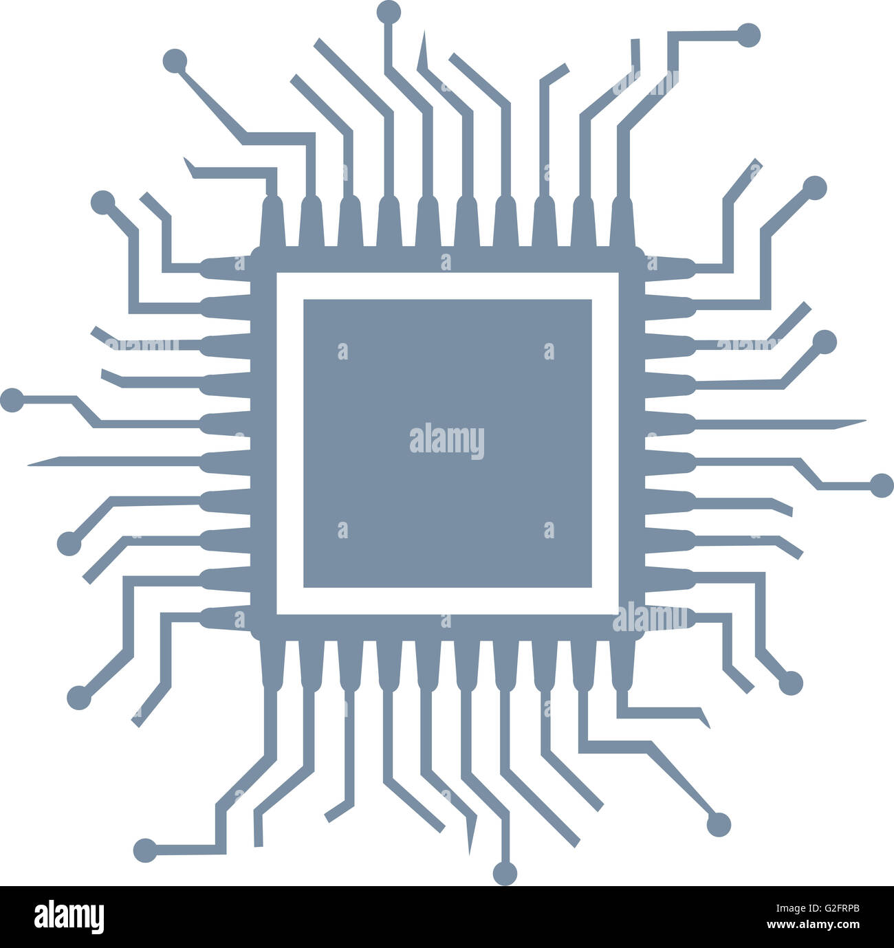 CPU computer chip - Stock Image
