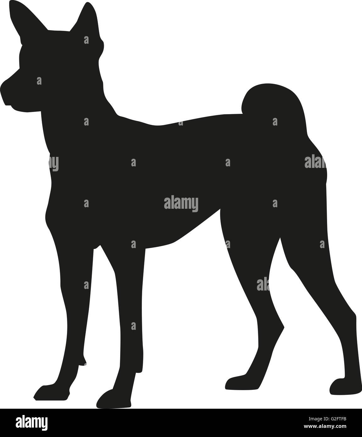 Basenji silhouette - Stock Image
