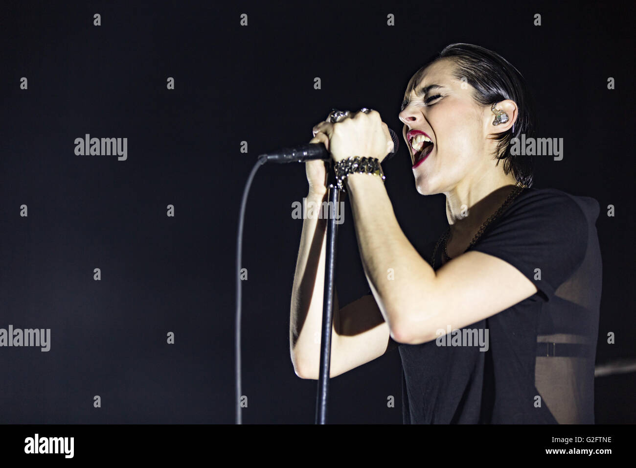 Jehnny Beth of Savages @ Imperial Vancouver on May 27th 2016 Stock Photo