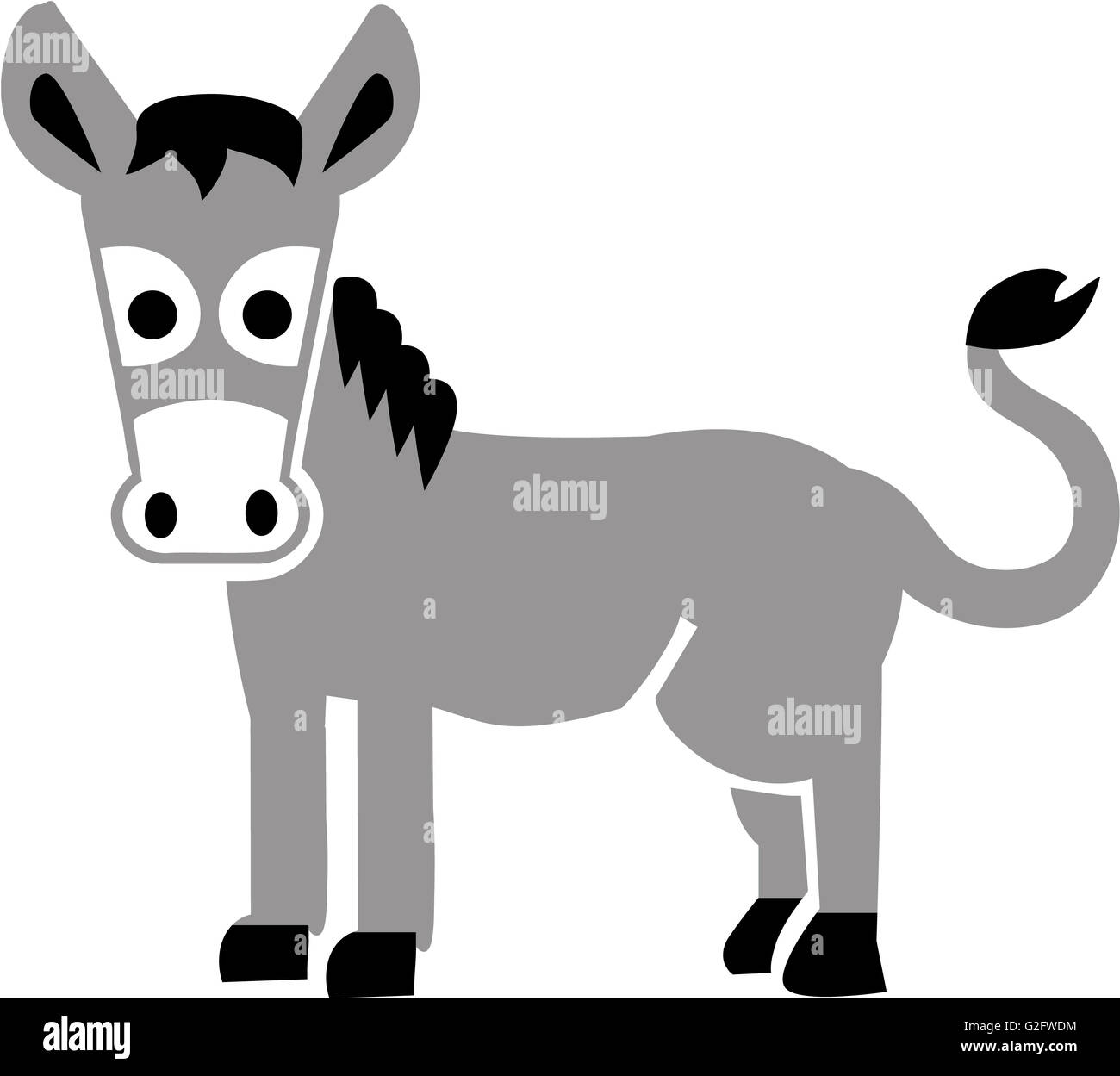 Cartoon Donkey - Stock Image