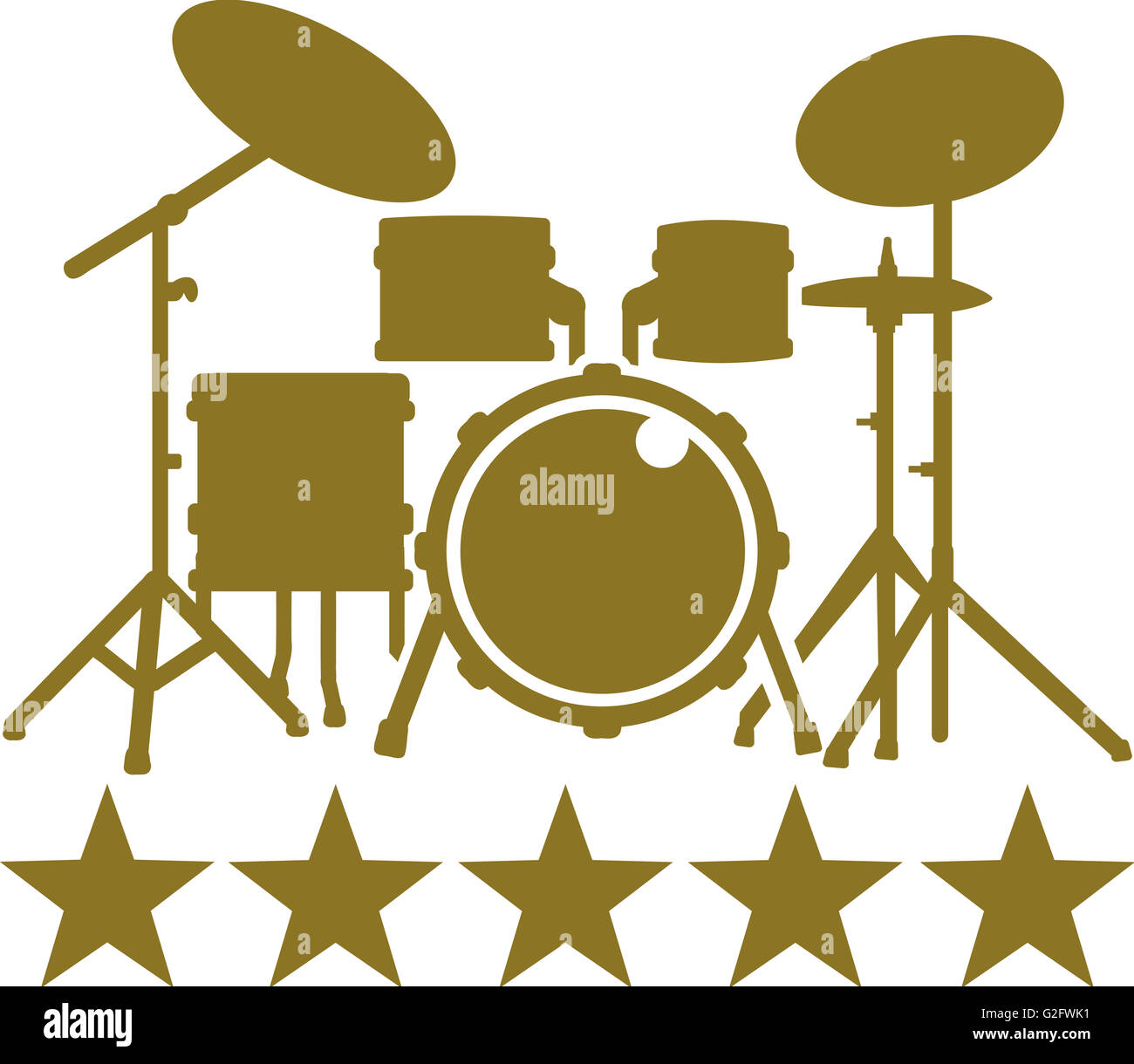 Drum Kit Cut Out Stock Images & Pictures - Alamy