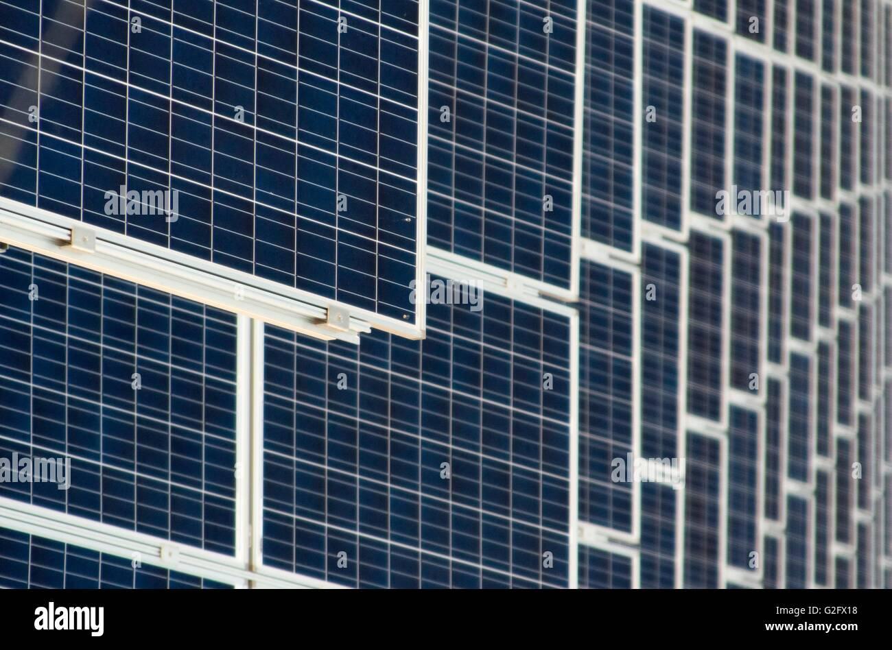 solars panels pattern - Stock Image