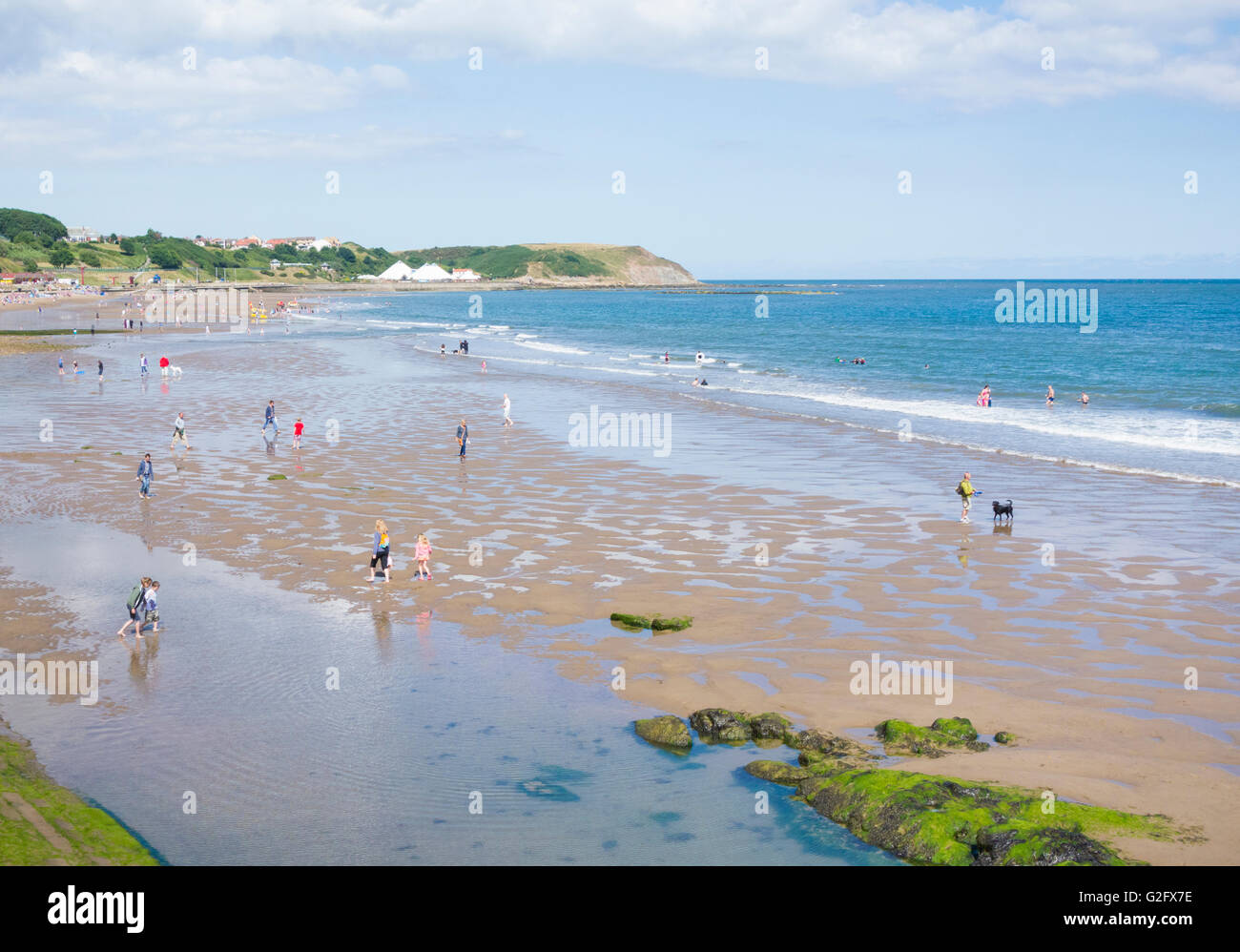 North Bay beach, Scarborough, North Yorkshire, England, United Kingdom - Stock Image