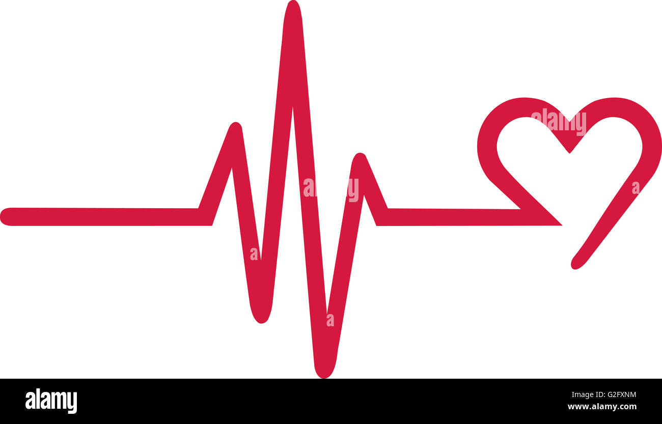 Frequency with heart symbol at the end - Stock Image