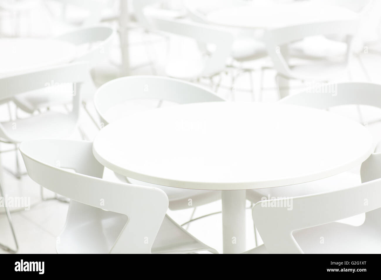 Swell Empty White Interior Of Tables And Chairs Infinity Lamtechconsult Wood Chair Design Ideas Lamtechconsultcom