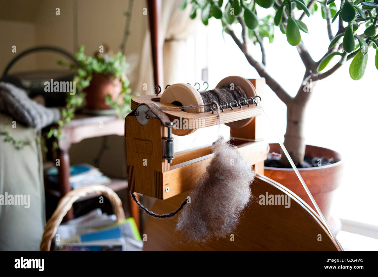 Spinning Wheel Stock Photo