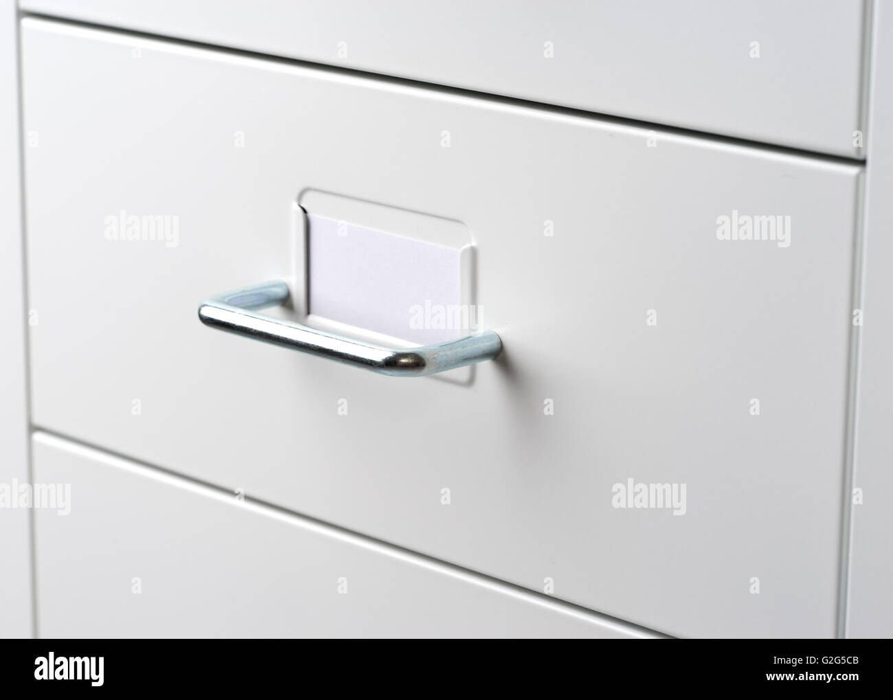 White Cabinet with drawers Stock Photo