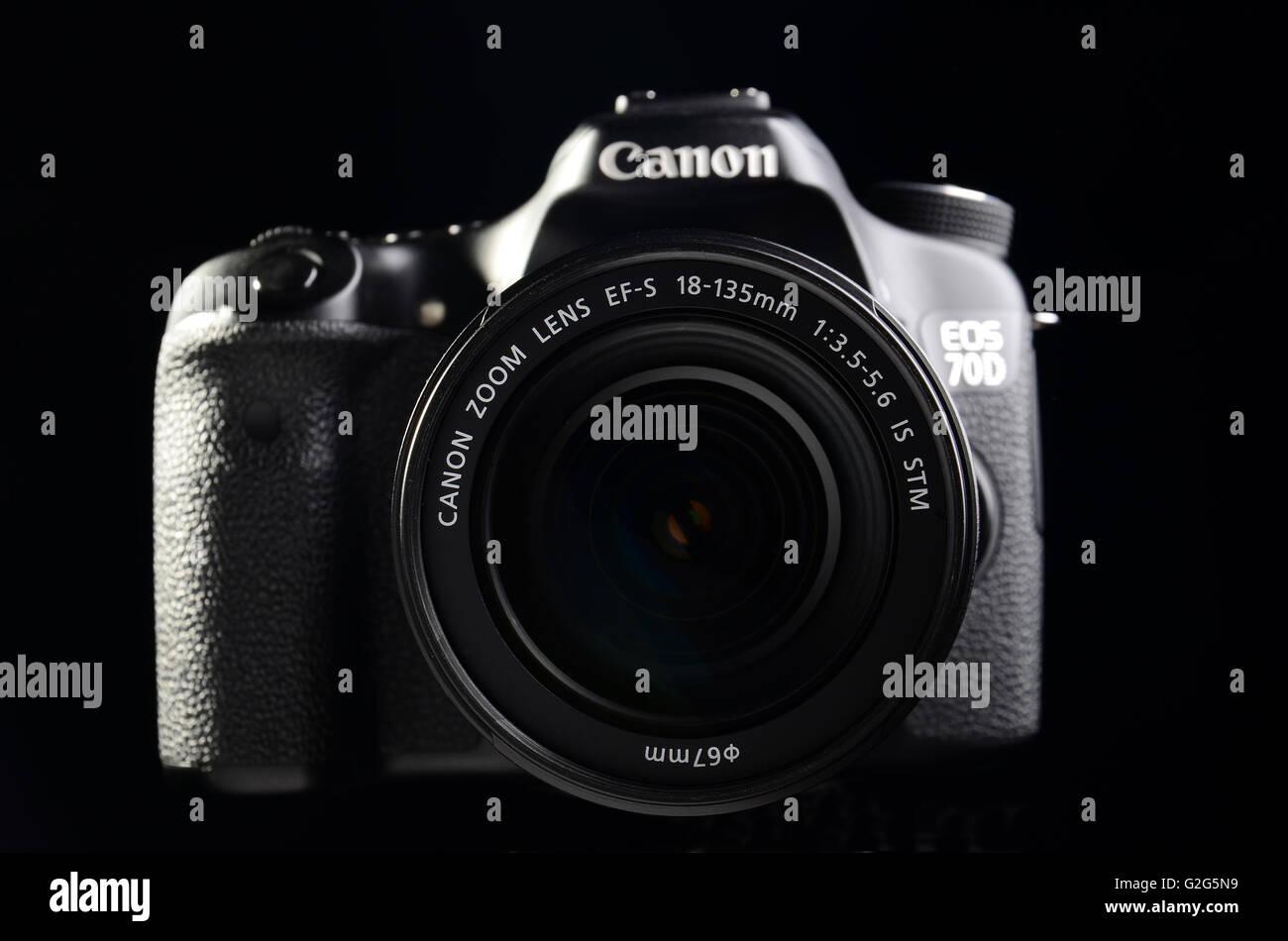 DSLR camera Canon EOS 70D Stock Photo