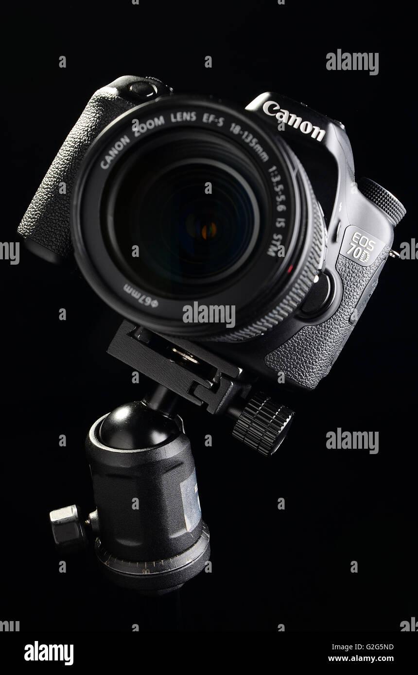Camera Canon DSLR 70D Stock Photo