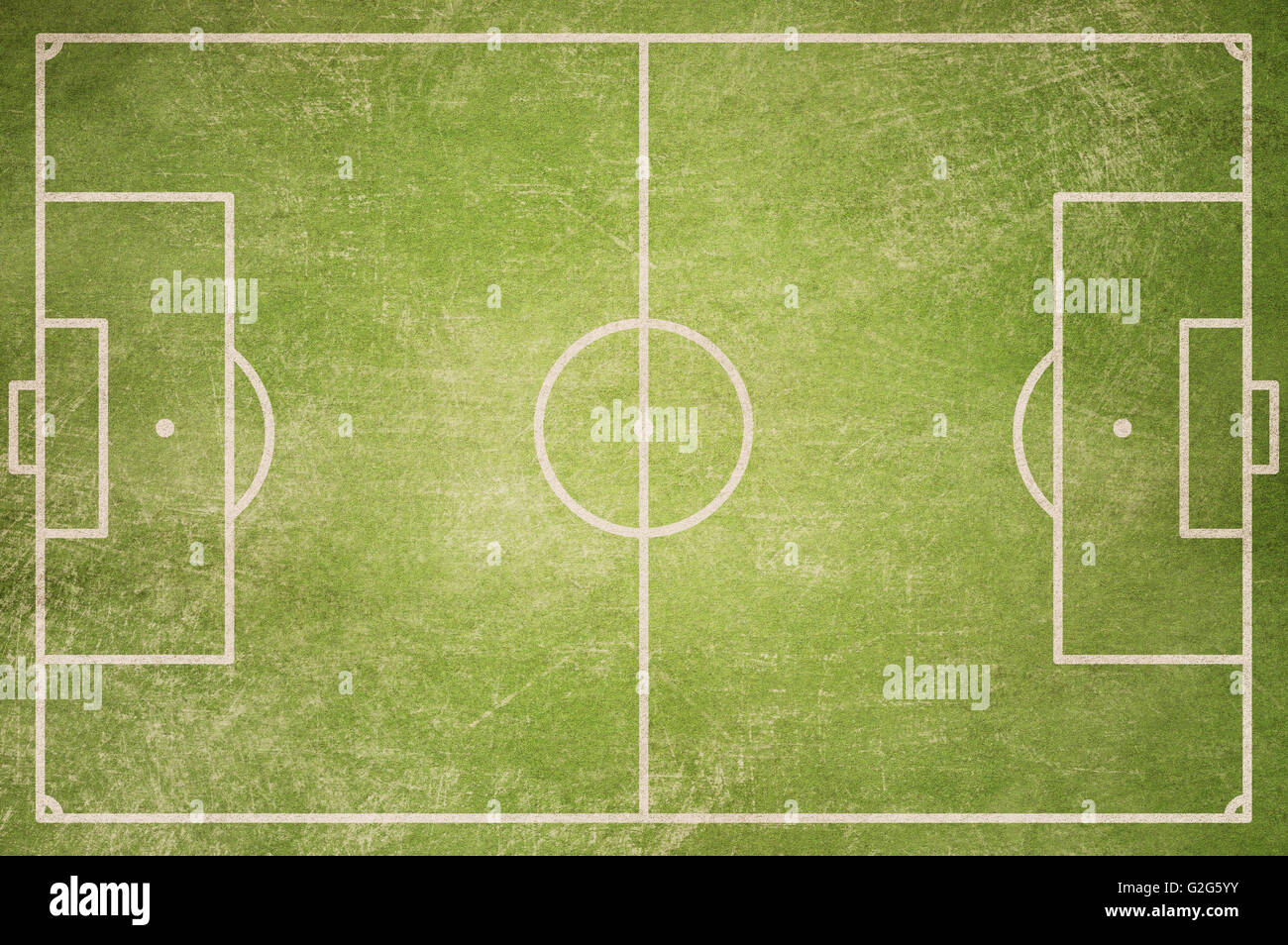 Soccer Field Top View Grunge Background Stock Photo