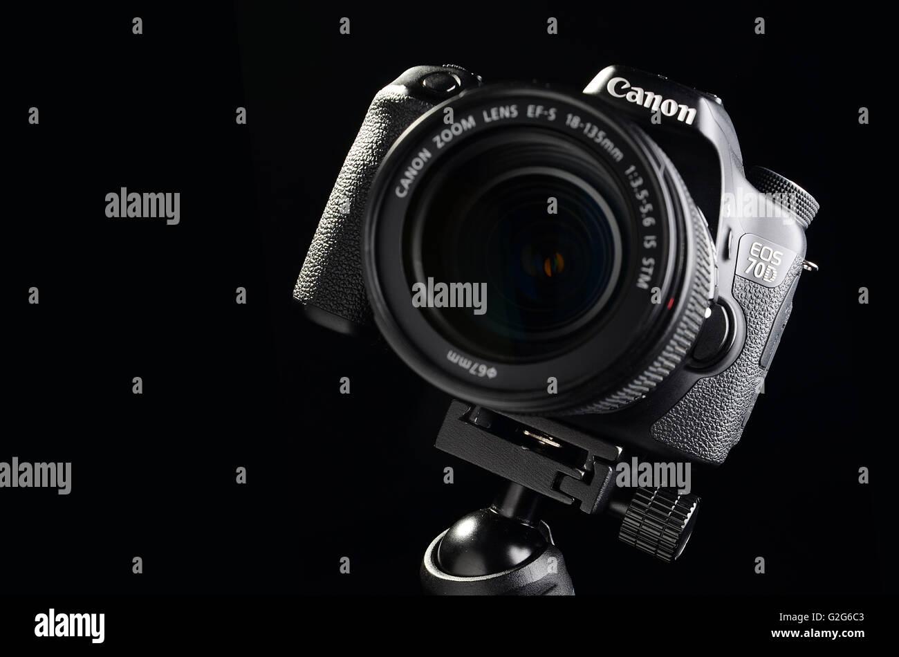 Camera Canon Digital SLR 70D - Stock Image