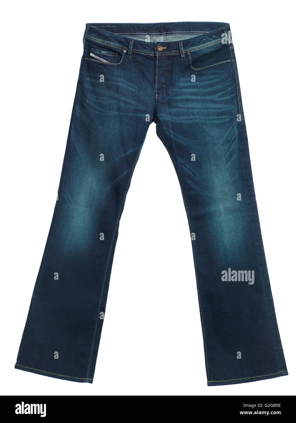 Diesel jeans Zathan, men's boot-cut washed denim pants - Stock Image