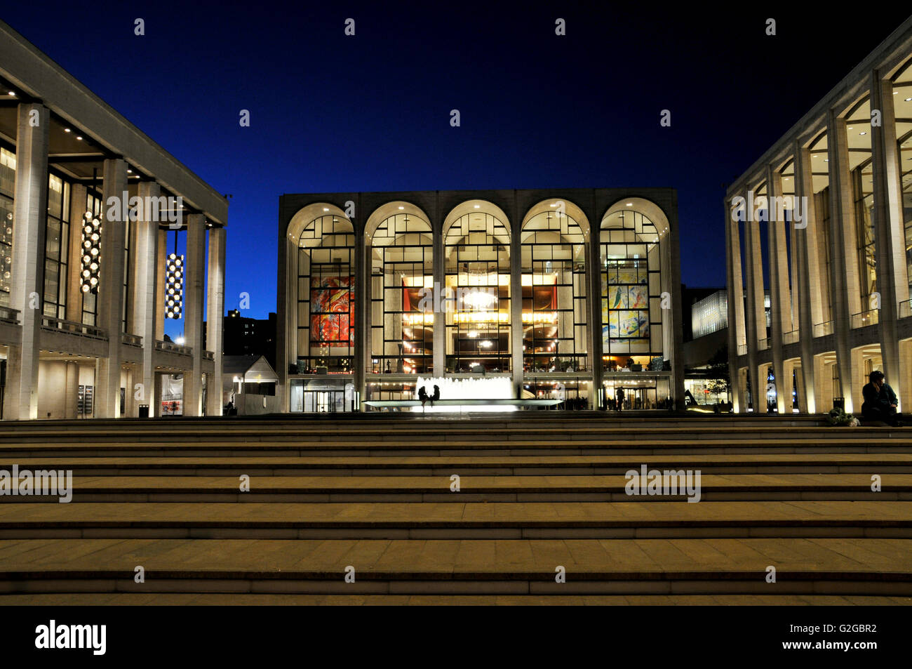 The renovated Lincoln Center for the Performing Arts, Broadway, Manhattan, New York City, New York, United States - Stock Image