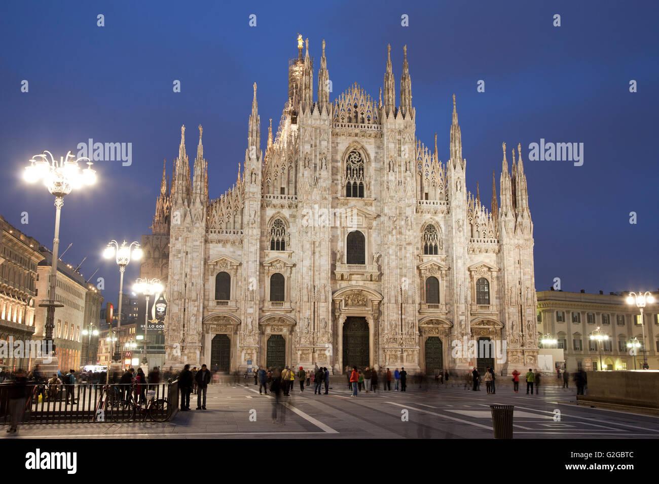 Milan Cathedral or Duomo di Santa Maria nascente, Milan, Lombardy, Italy - Stock Image
