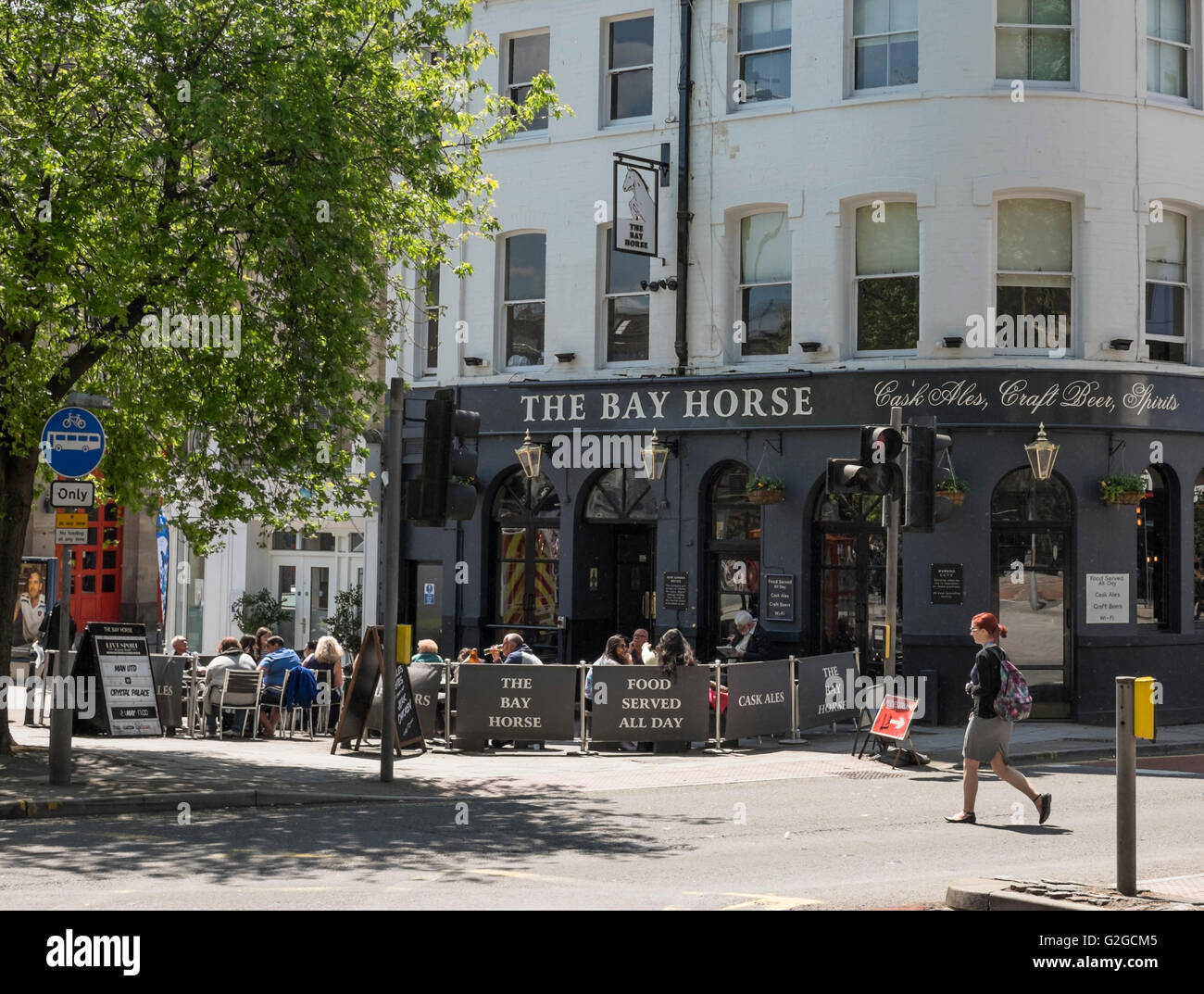 Around Bristol city england UK The Bay Horse Pub Lewins Mead - Stock Image