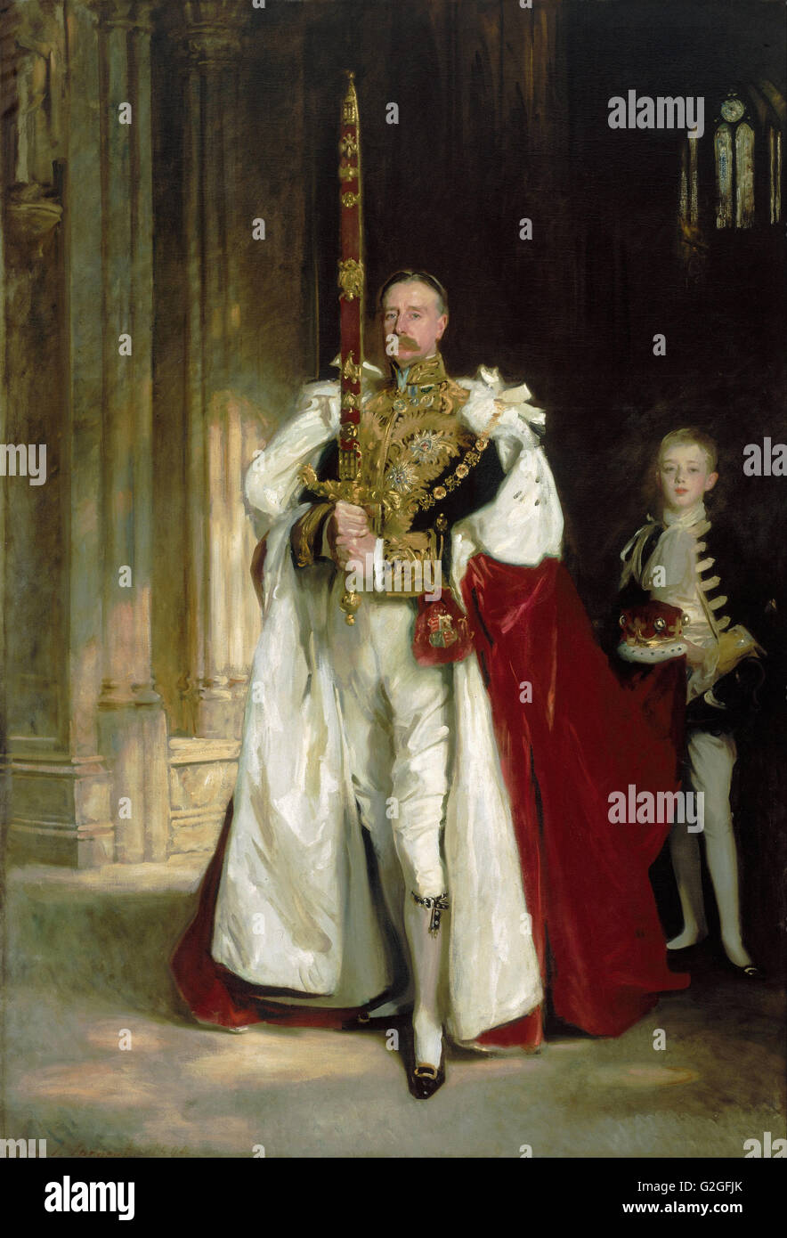 John Singer Sargent - Charles Stewart, Sixth Marquess of Londonderry, Carrying the Great Sword - Museum of Fine - Stock Image