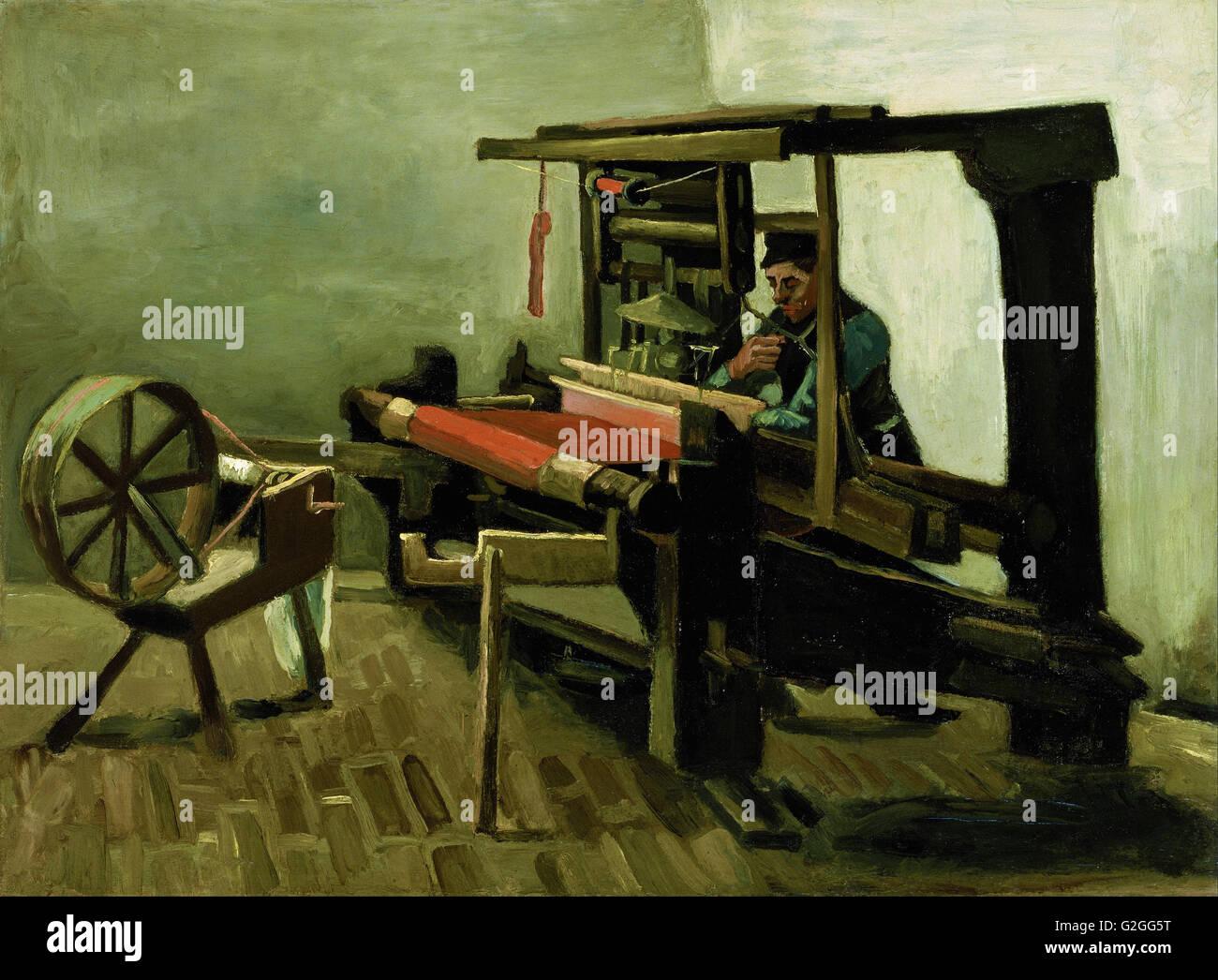 Vincent van Gogh - Weaver - Museum of Fine Arts, Boston Stock Photo