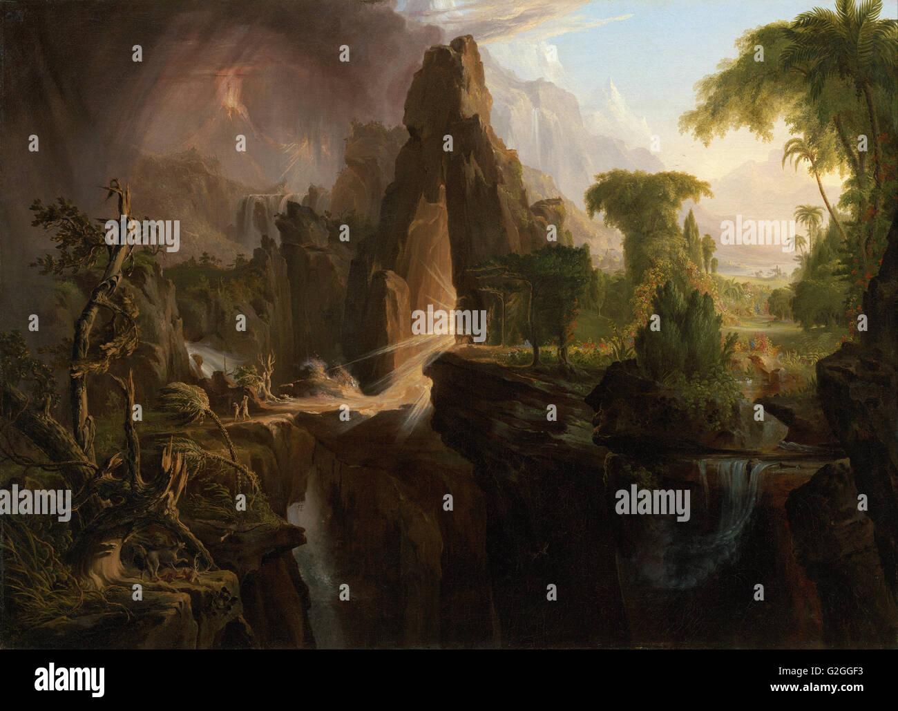 Thomas Cole - Expulsion from the Garden of Eden - Museum of Fine Arts, Boston - Stock Image