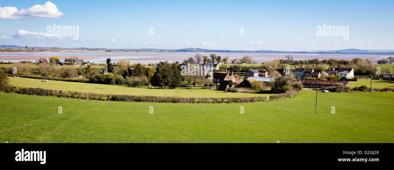 Village of Purton on the southern shore of the Severn Estuary in Gloucestershire UK - Stock Image