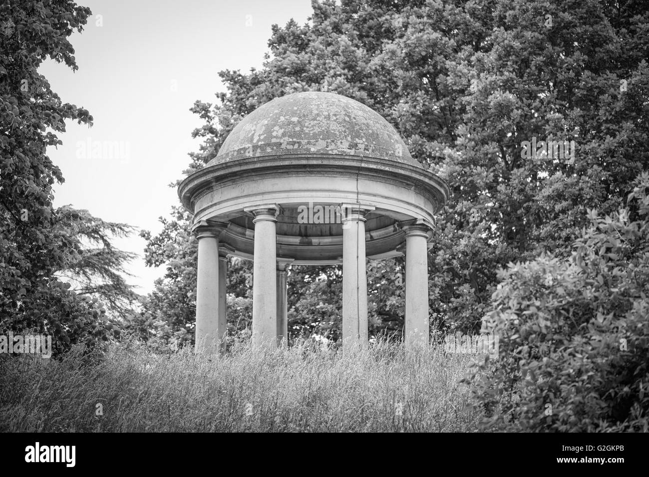 Temple of Aeolus designed and built by Sir William Chambers at Kew Botanical Gardens in London, England - Stock Image
