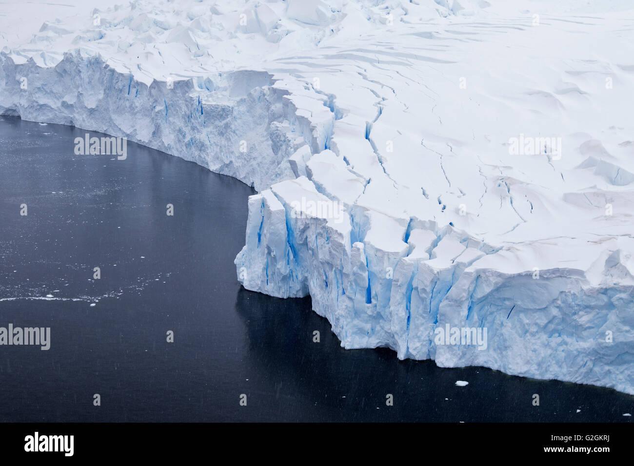Antarctica aerial iceberg, ice berg, glacier landscape. Neko Harbor, Antarctic Peninsula, Antarctica. - Stock Image