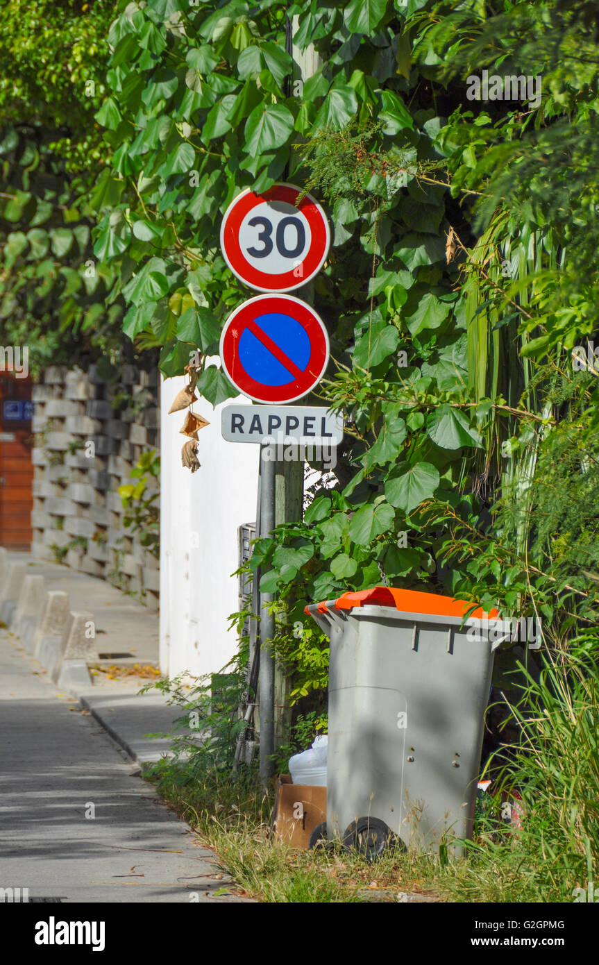 traffic sign in st barth's - Stock Image