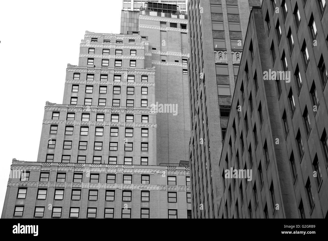 New York City Grid Geometric Black And White Stock Photos Images