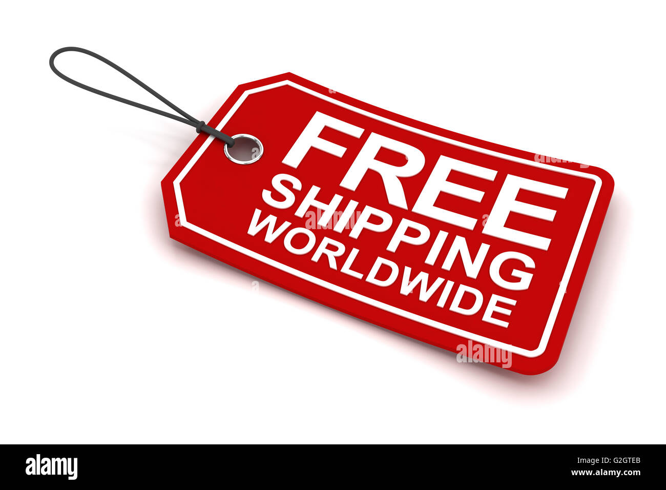 ba931465 Free shipping worldwide tag, 3d render Stock Photo: 104861971 - Alamy