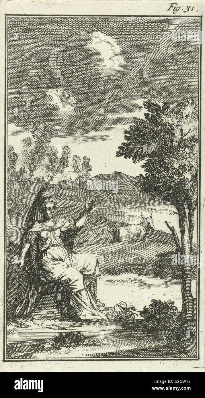 Europe and the bull, Jan Luyken, Barent Beeck, 1691 - Stock Image