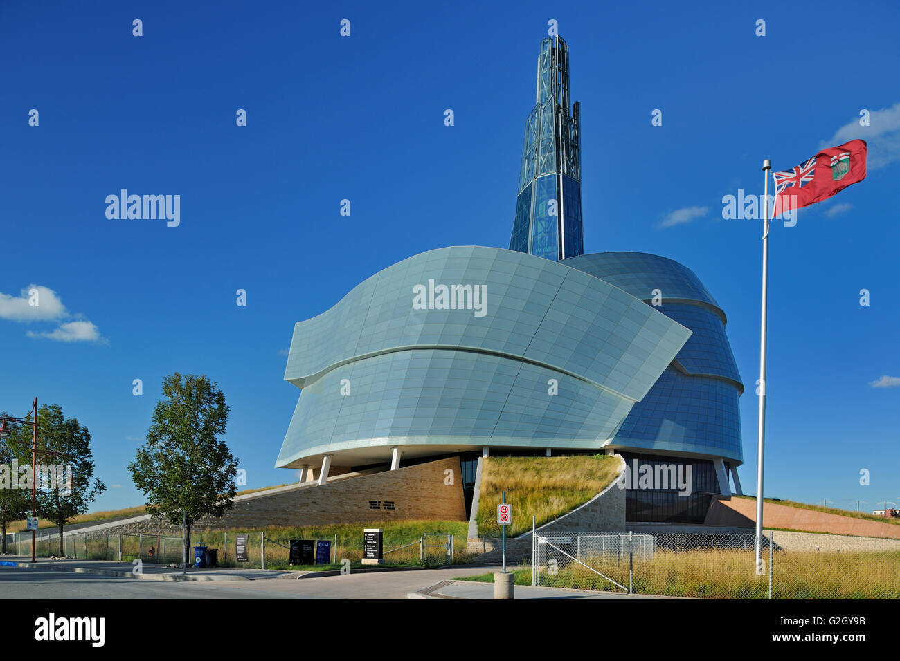 Canadian Museum for Human Rights Winnipeg Manitoba Canada - Stock Image