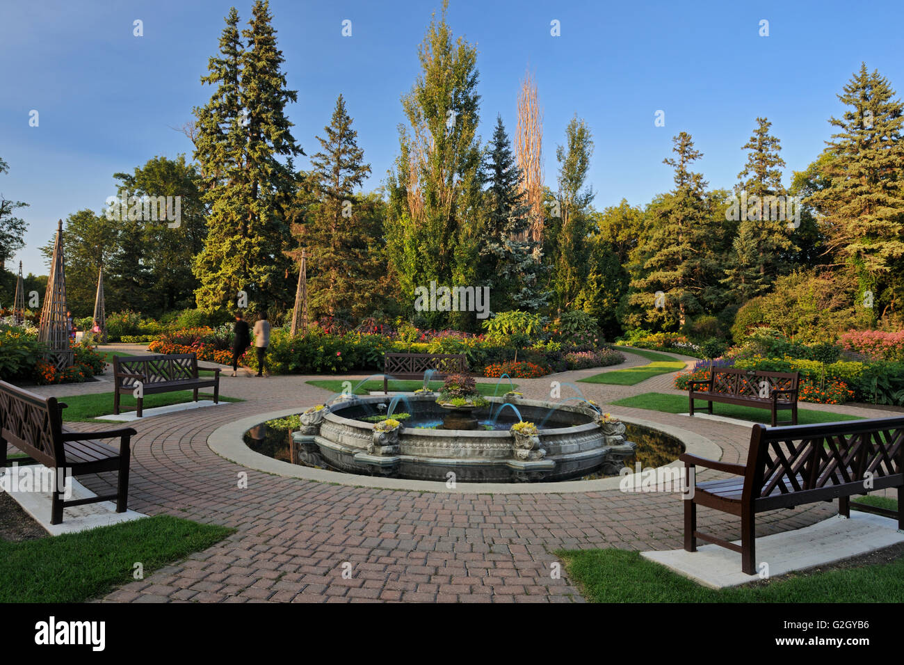 English Gardens. Assiniboine Park Winnipeg Manitoba Canada - Stock Image