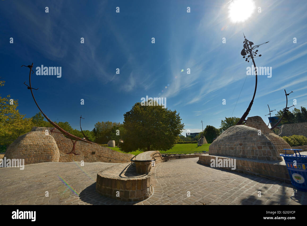 Oodena Celebration Circle at The Forks Winnipeg Manitoba Canada - Stock Image