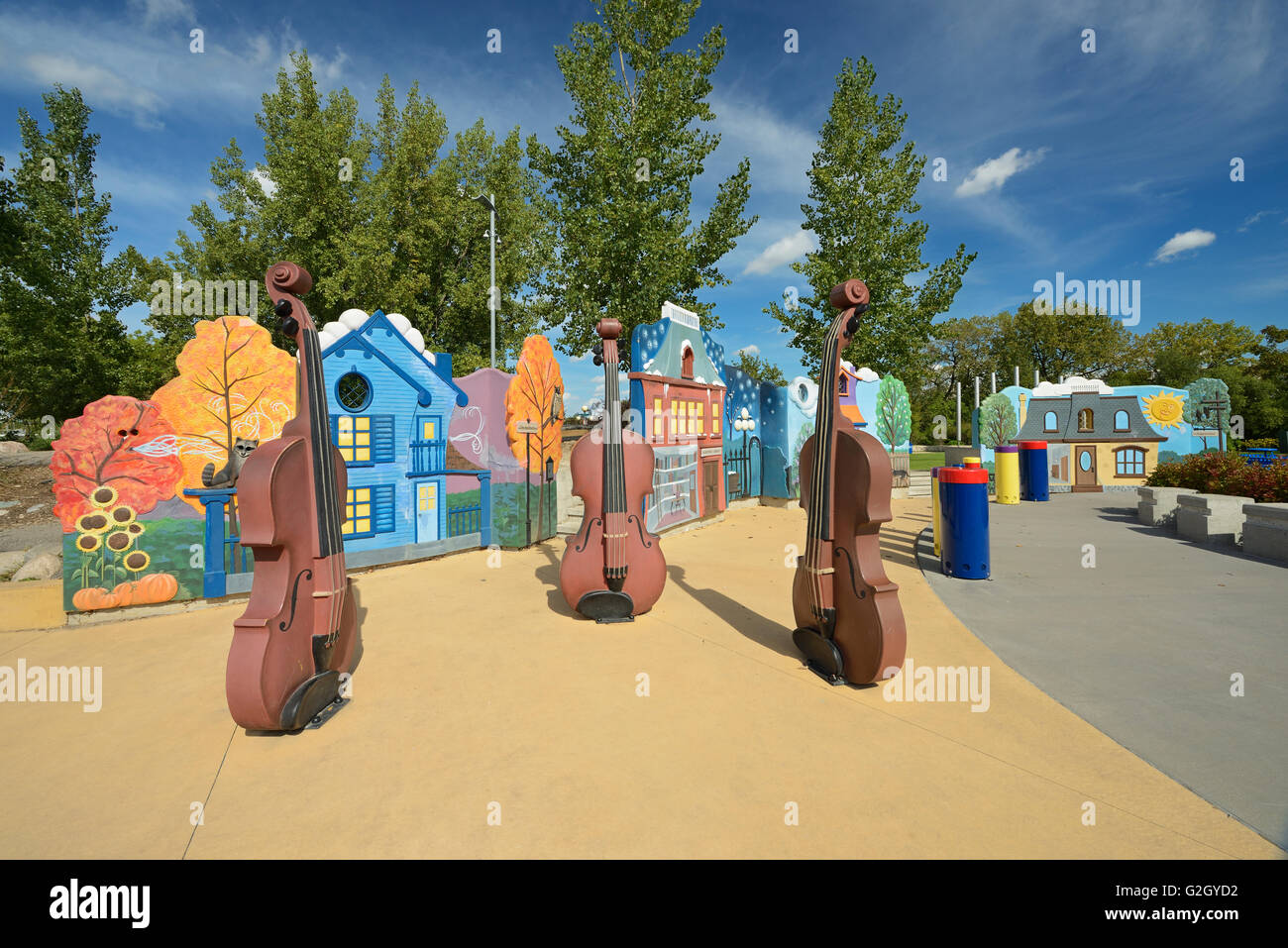 Variety Heritage Adventure Park at The Forks Winnipeg Manitoba Canada - Stock Image