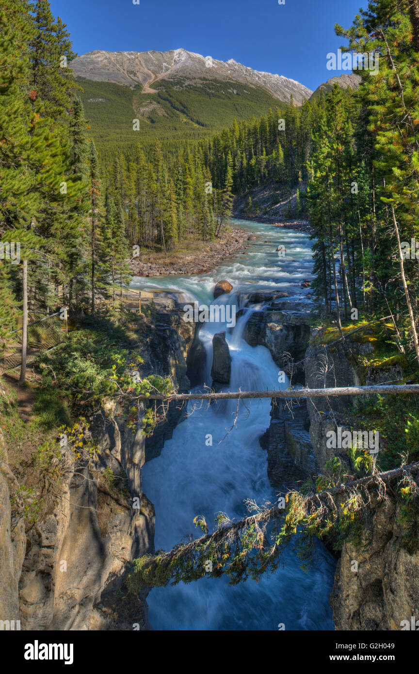 Sunwapta Falls Jasper National Park Alberta Canada Stock Photo