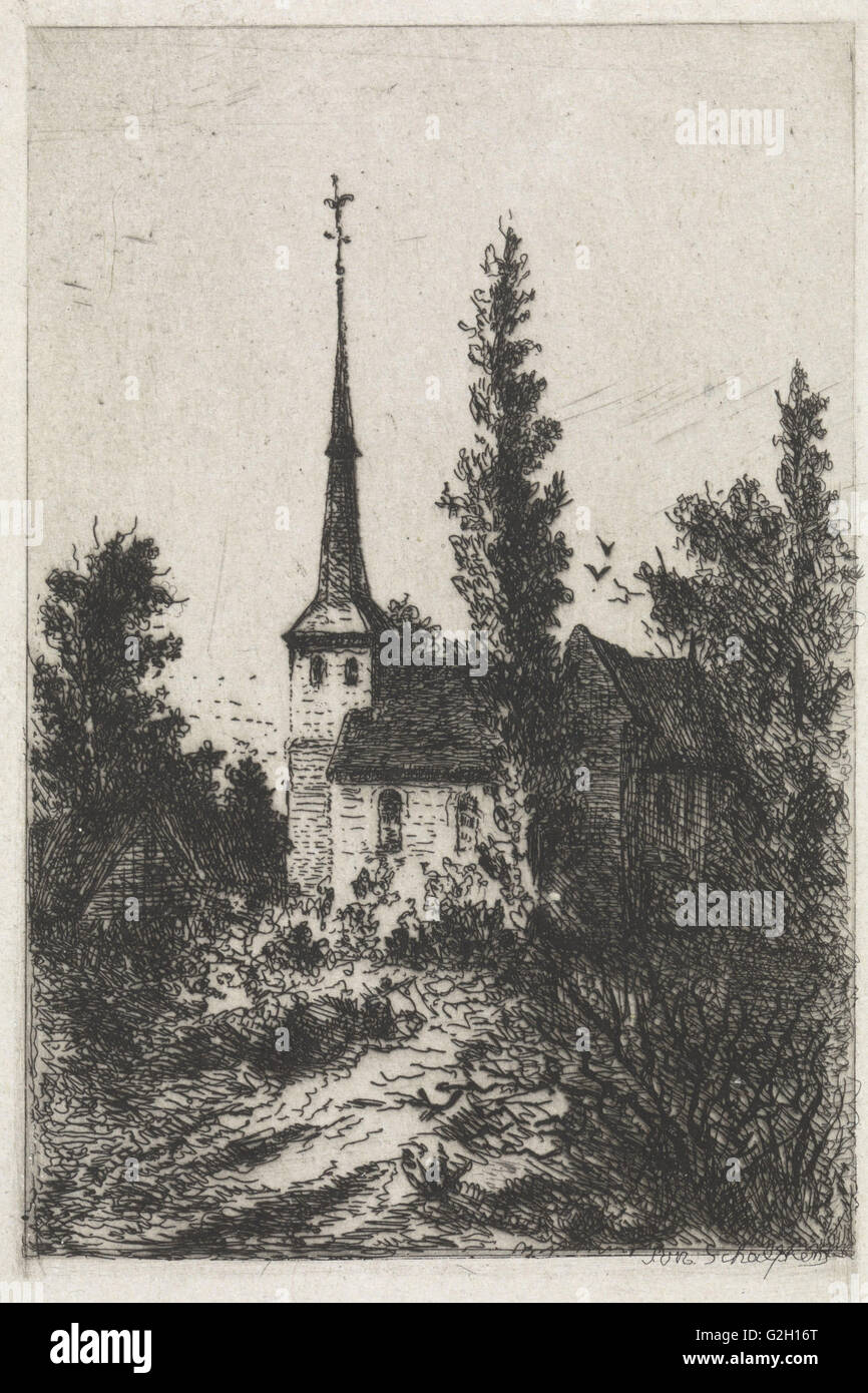 Church, Arnoud Schaepkens, 1831 - 1904 - Stock Image