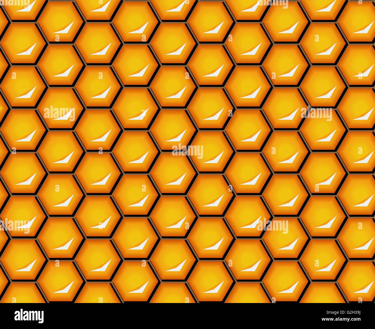 Vector illustration seamless honeycomb background pattern shiny seamless honeycomb background pattern shiny hexagonal cells honey comb pattern is suitable for packaging voltagebd Image collections