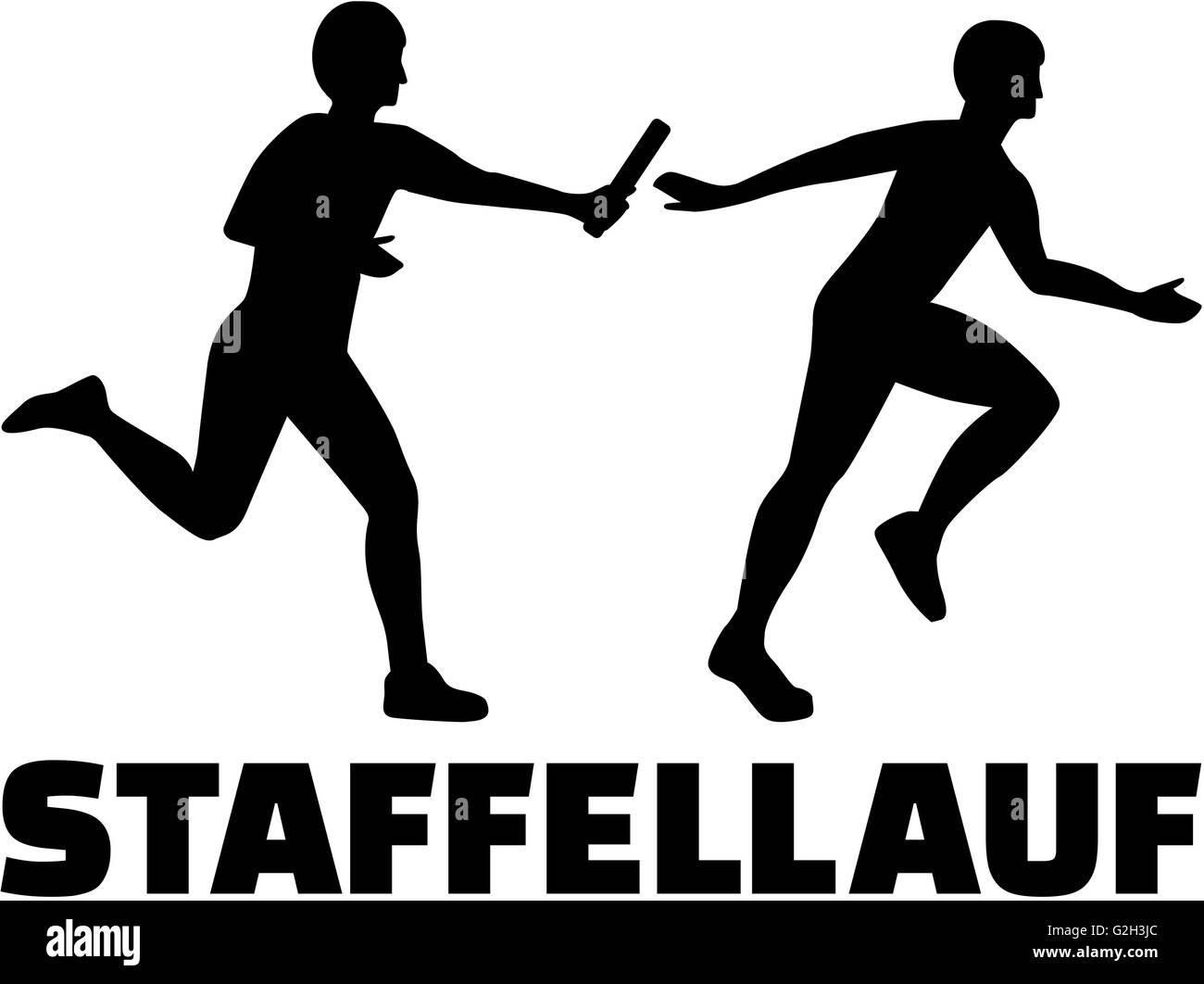 relay german word with silhouette stock photo 104867572 alamy