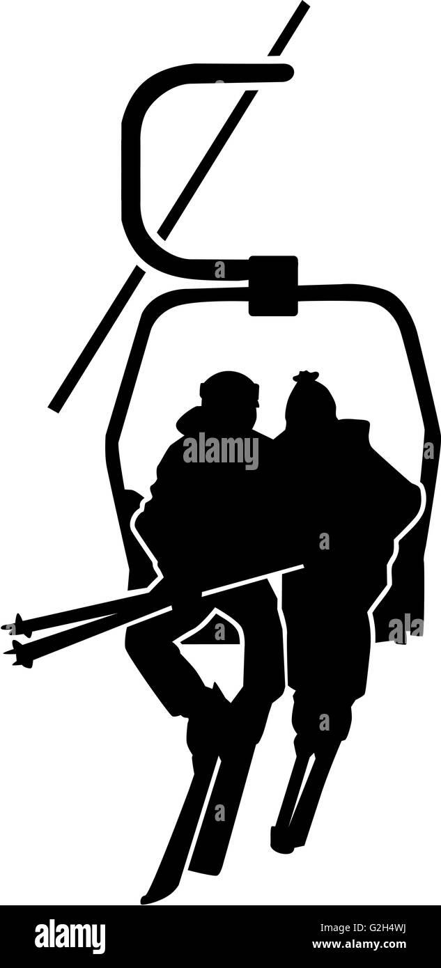 Ski Lift People - Stock Image