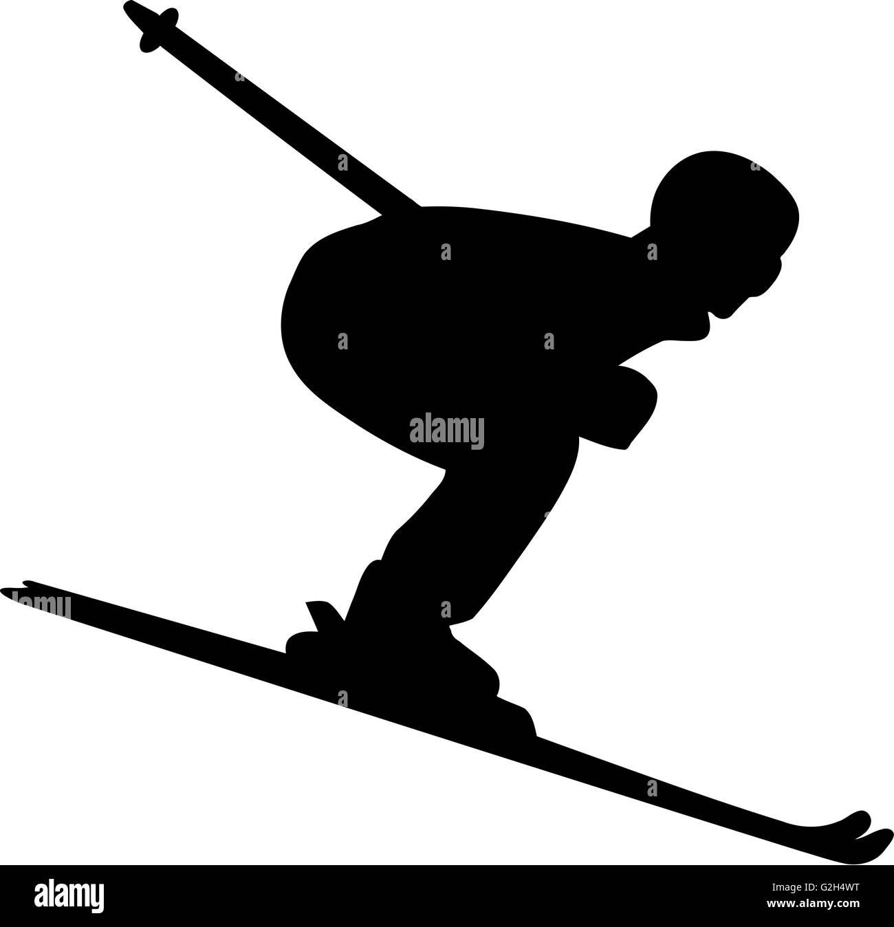 Ski Run Men - Stock Image