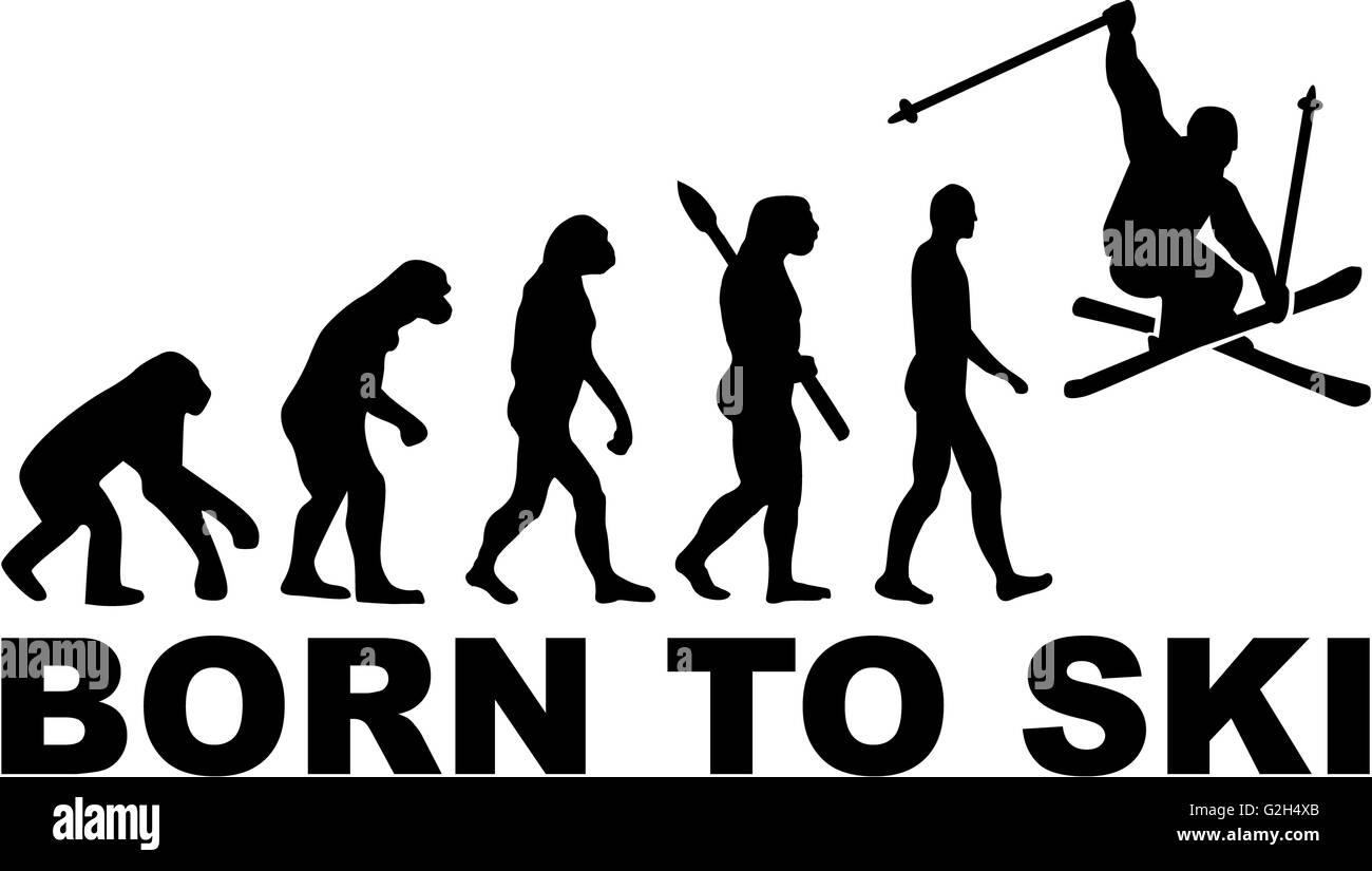 Born to Ski Stunt Evolution - Stock Image