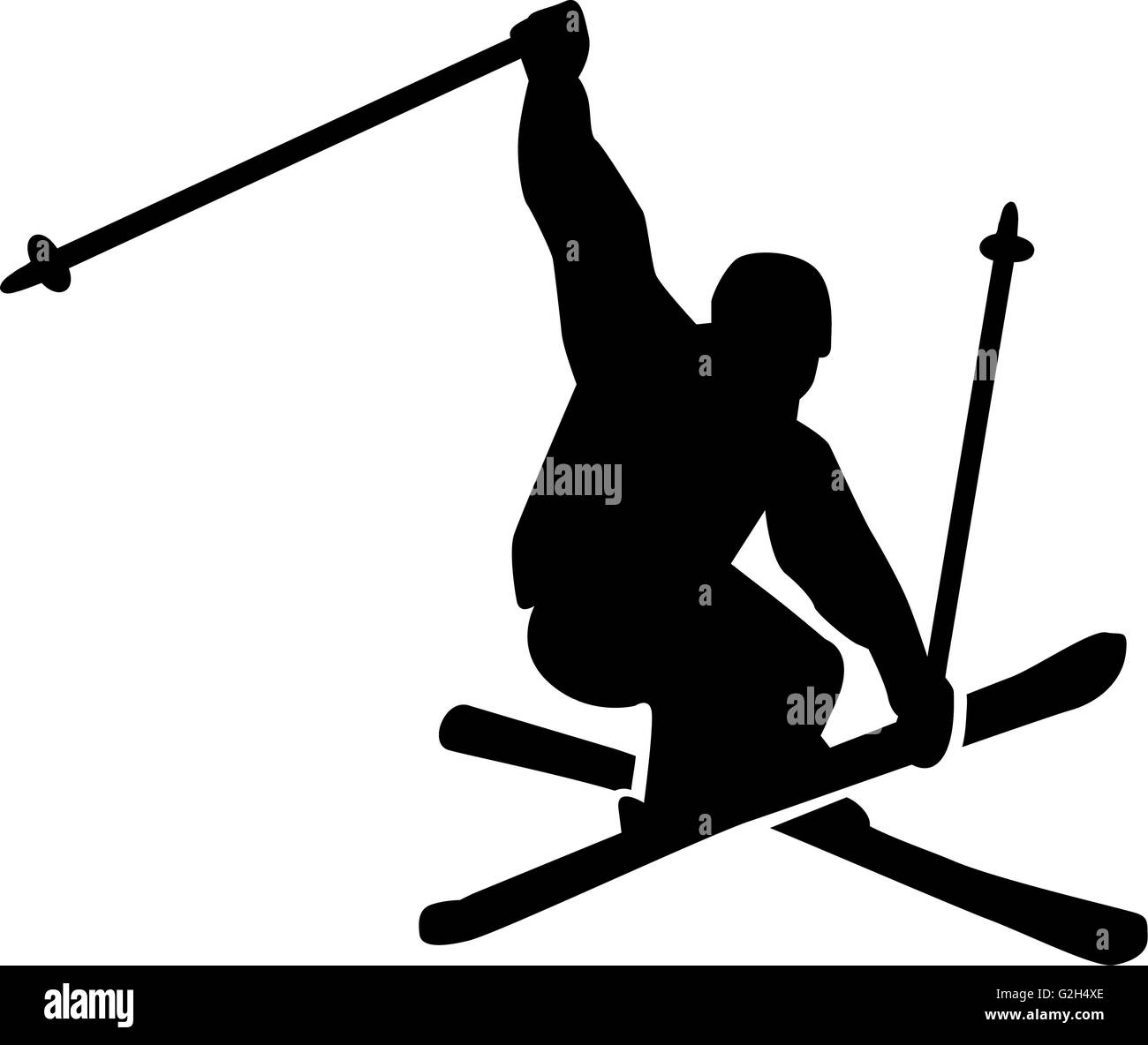 Ski Jumping Freestyle - Stock Image