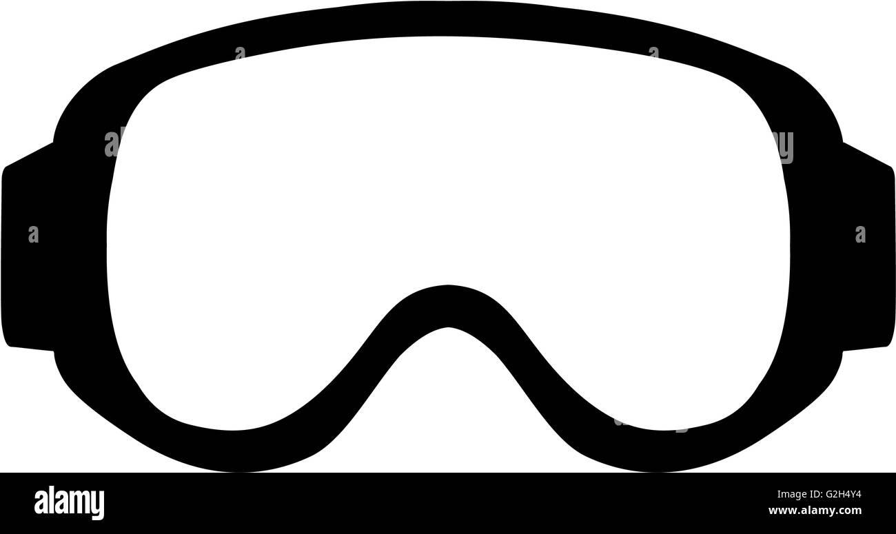 Ski Goggle Simple - Stock Image