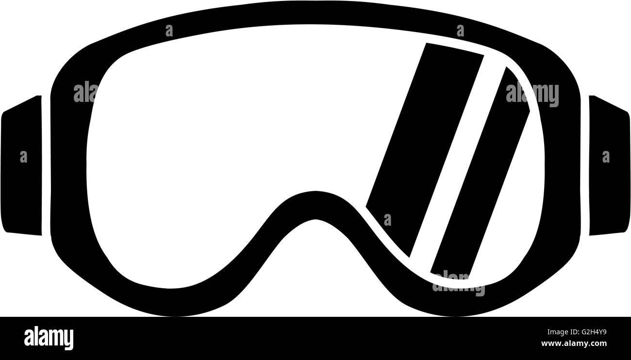 Ski Goggles Icon - Stock Image