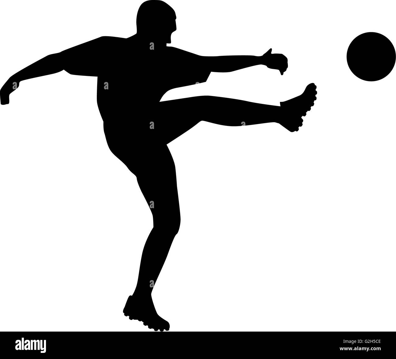Soccer Player Silhouette - Stock Image