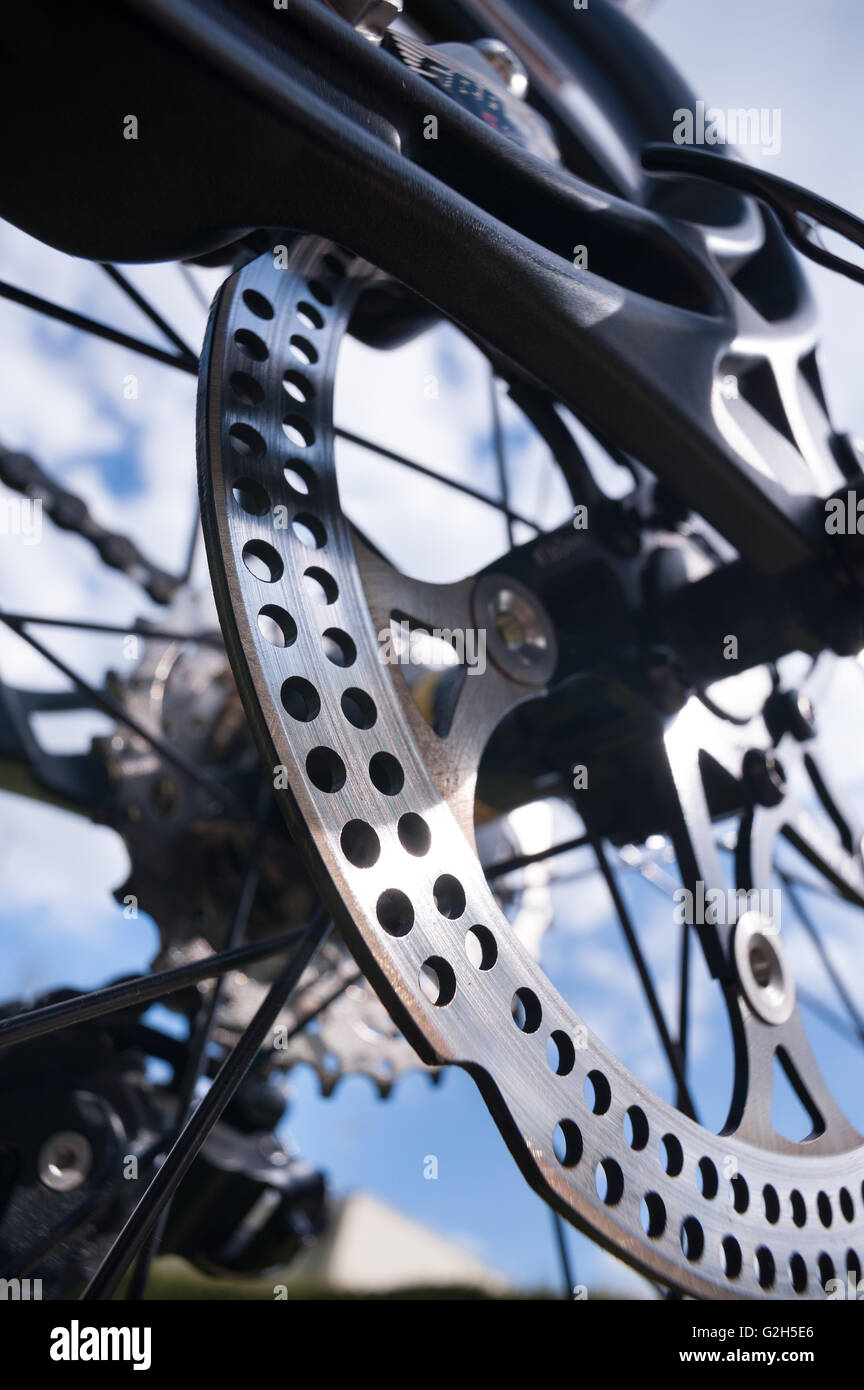 Brake Rotors Stock Photos Images Alamy Camp Roadbike Impala Red Steel Metal Disc On Road Bike Giving Great Sharp Breaking Stopping Ability But Knife