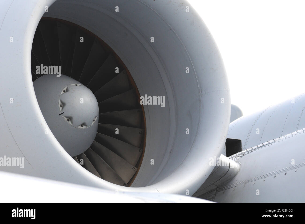 A-10 Thunderbolt jet engine - Stock Image